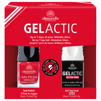 alessandro Nagellack Set  - Gelactic + Secret Red (2x10ml)