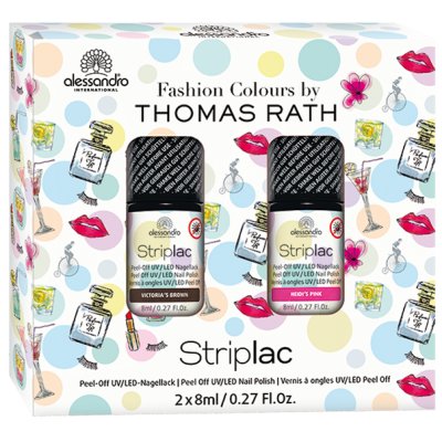 alessandro Striplac Set by Thomas Rath - Pink/Braun (2 x 8ml)