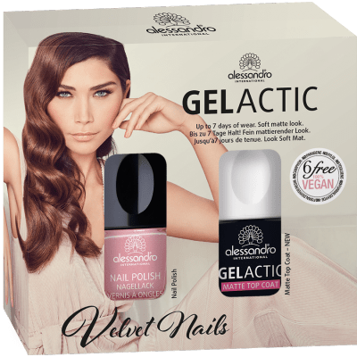 alessandro  Nagellack Set - Gelactic Matt Dried Rose (2x10ml)